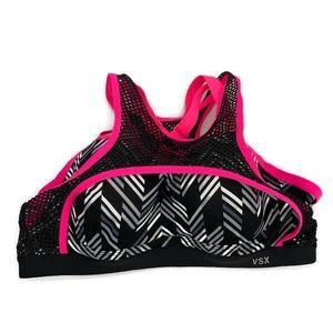Pink Victorias Secret Sports Bra 36B Racerback